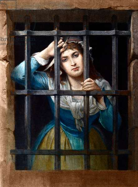 Charlotte Corday In Prison - by Charles Louis Lucien Muller - private collection