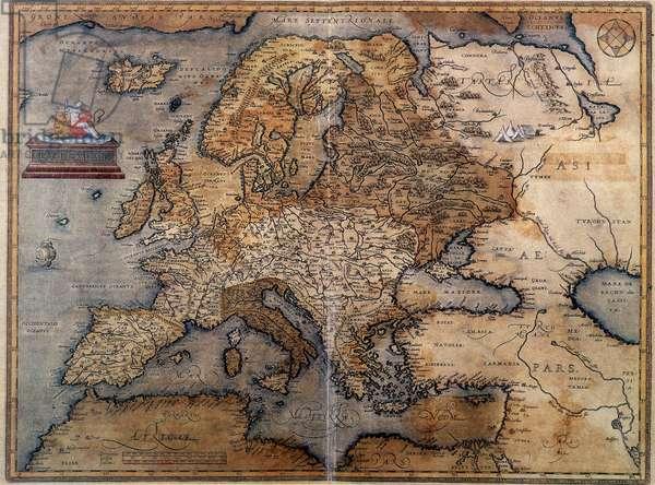Map of Europe, 16th century.