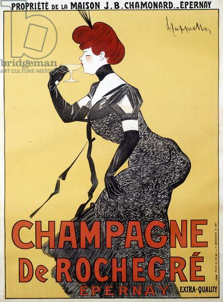 Advertising poster for Champagne de Rochegre - by Leonetto Cappiello (1875-1942), late 19th century