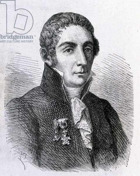 "Portrait of Alessandro (Alexandre) Volta (1745 - 1827) - in """" Album of Science; illustrious scholars; Great Discoveries"""""" 1896."