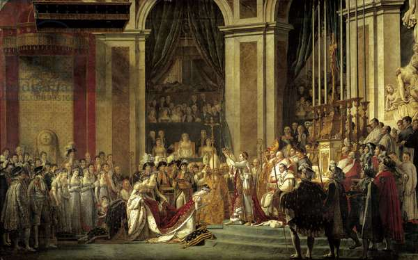 Sacred Emperor Napoleon I and Coronation of Impress Josephine in Our Lady on December 2, 1804 by Pope Pius VII (oil on canvas)
