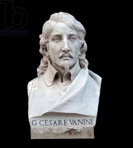 Bust of Giulio Cesare (Lucilio) Vanini (1585-1619) Italian philosopher and naturalist, 19th century (marble)