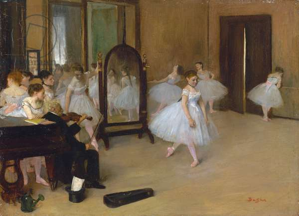 The dance class, 1871 (oil on canvas)
