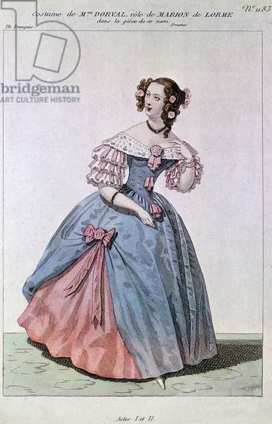 Costume of Madame Dorval in the role of Marion de Lorme by Victor Hugo.