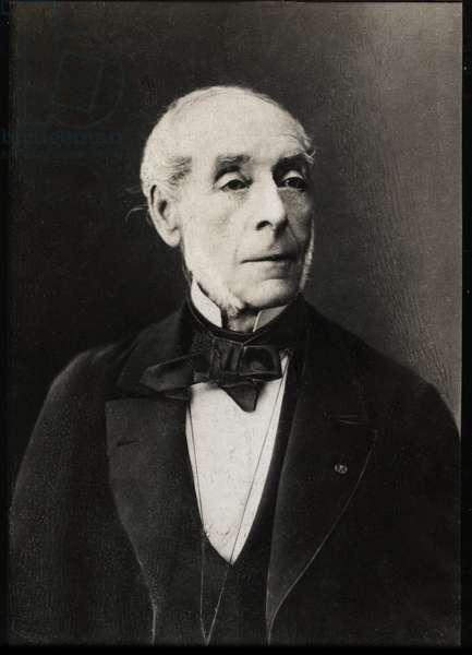 Portrait of Ernest Legouve (1807-1903), French dramatist.
