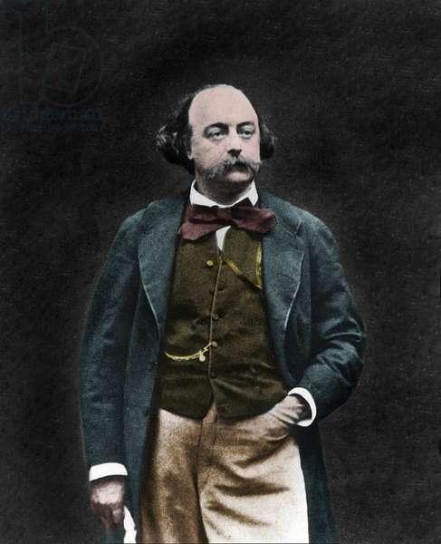 Portrait of English writer Gustave Flaubert (1821-1880)