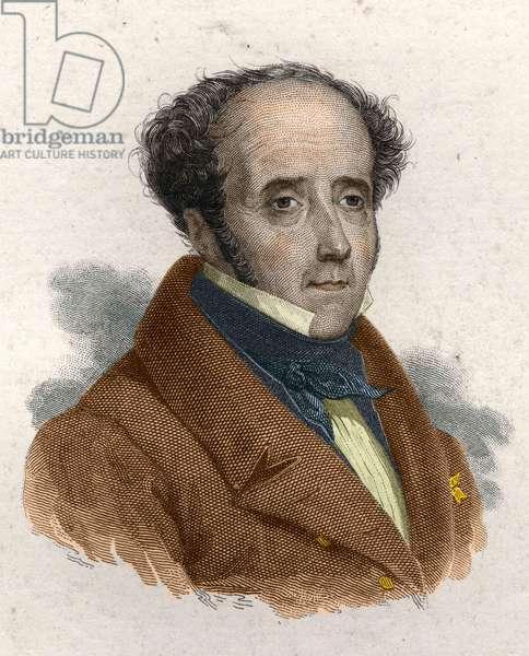 François Rene de Chateaubriand (Saint Malo 1768 - Paris 1848)