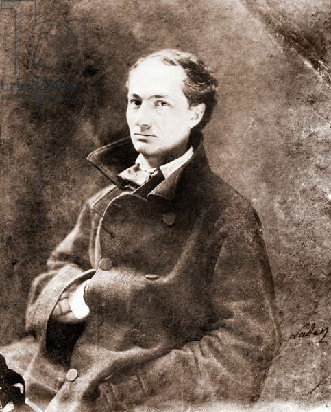 Portrait of Charles Baudelaire, Writer (1821-1867) - Photography by Nadar (Felix Tournachon)