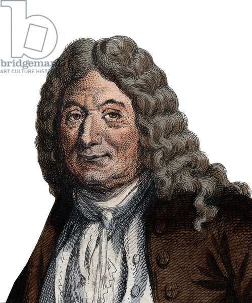 Portrait of Alain Rene Lesage (Le Sage) (1668-1747), French novelist and playwright.