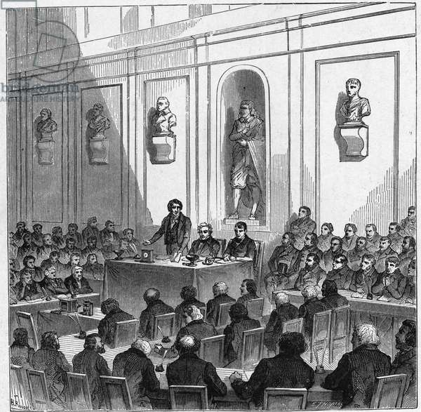 François Arago announced on August 10, 1839 the discovery of Daguerre (Daguerréotype) in the public session of the acedemia of science.