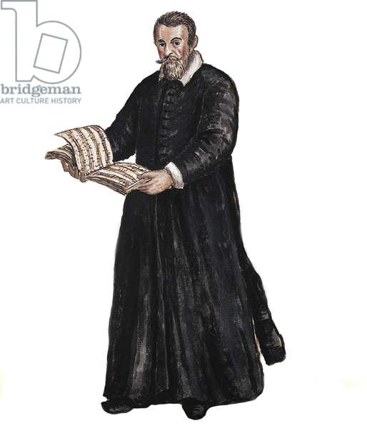 Portrait of Claudio Monteverdi - Portrait of Claudio Monteverdi (1567-1643) Italian composer after Drawing by Jan van Grevenbroeck (or Giovanni Grevembroch (Grevenbroch) (1731-1807)