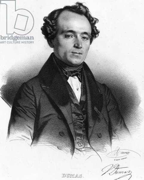 Portrait of Jean Baptiste (Jean-Baptiste) Andre Dumas (1800-1884) chemist francais