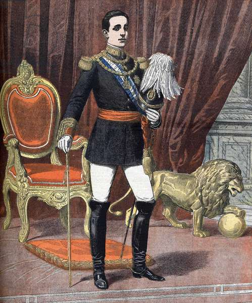 Alfonso XIII (1886-1941), King of Spain. Illustration of 1905.