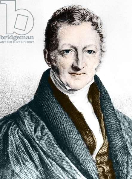 Thomas Robert Malthus (coloured engraving)