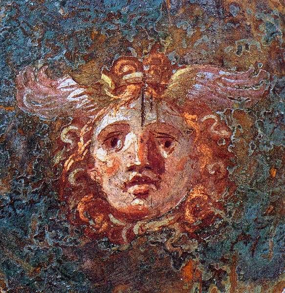 Gorgona or Gorgo - Detail of a fresco by Pompei Casa dei Vettii 1st century AD.