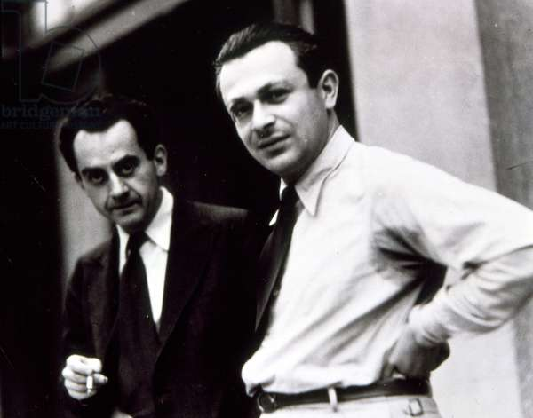 Man Ray and Tristan Tzara in Stockholm. Collector Jacques Doucet.