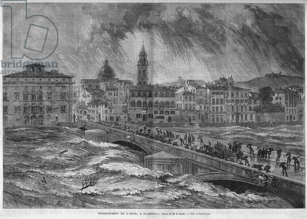 The overflow of the Arno to Florence in 1868.
