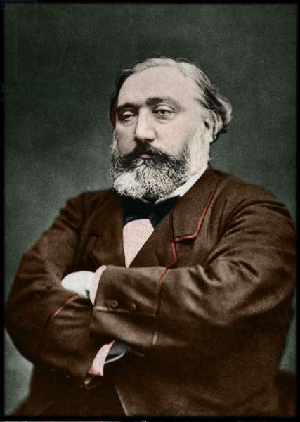 Portrait of Leon Gambetta (1838-1882), French statesman.