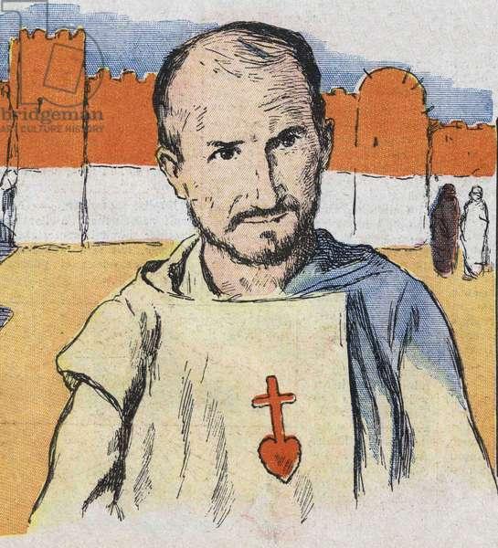 Portrait of Charles de Foucauld (Foucault) (1858-1916), French hermit.