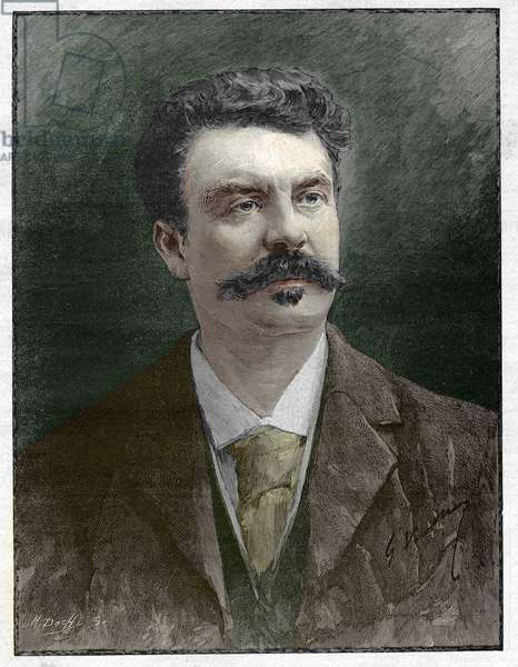 Guy de Maupassant (1850-1893), French writer.