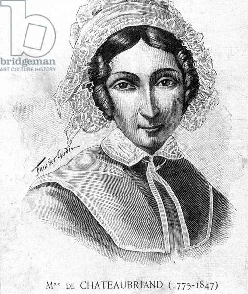 "Portrait of Mme de Chateaubriand (1775 - 1847) - in """" Les Contemporains"""", n.d. late 19th century."