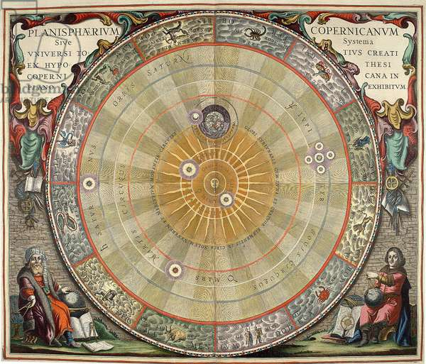 Map of the universe: System of the world by Nicolas Copernicus (Nicolaus Copernicus, 1473-1543)