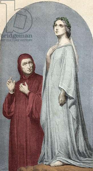 Dante and Beatrice.