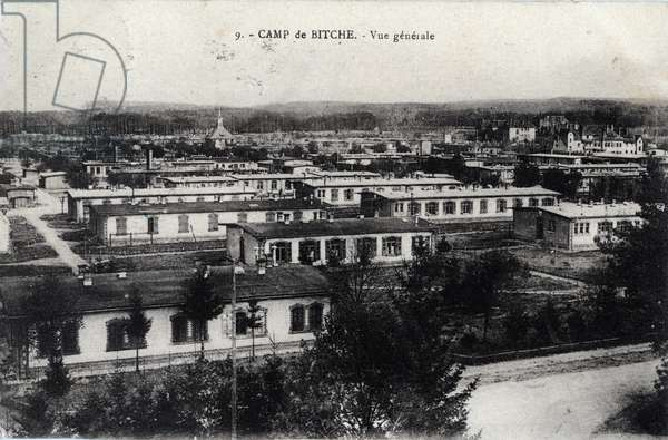 General view of the camp of Bitche, Moselle - 1910s, postcard. France, 20th century.