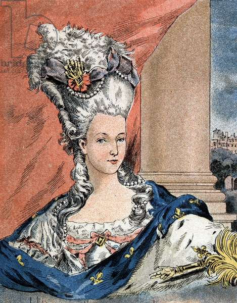 Portrait of Marie Antoinette by Lorraine Habsburg, Queen of France (1755-1793).