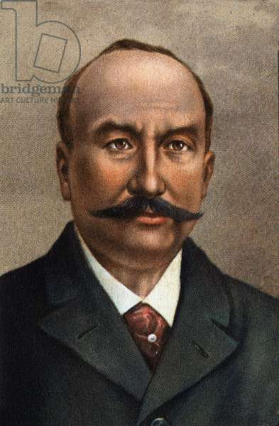 Portrait of Clement Ader (1841 - 1925), French engineer, pioneer of aviation.