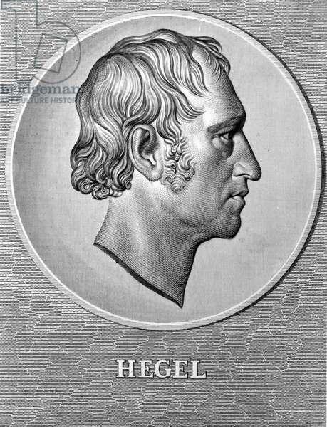 Portrait of Hegel (1770 - 1831), German philosopher