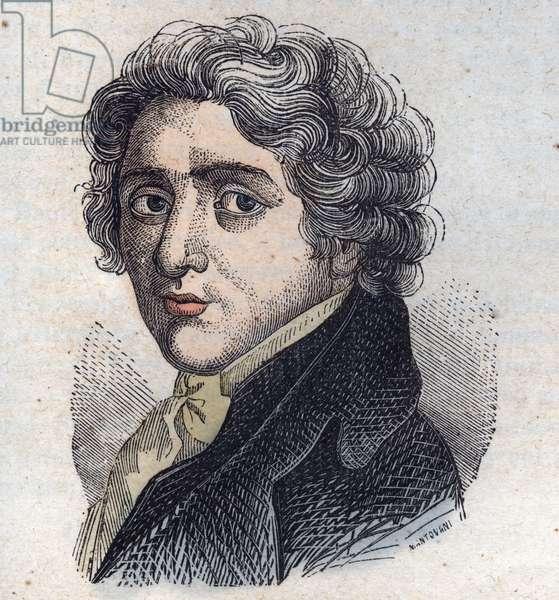 Portrait of Andrea Appiani (1754-1817) - engraving -