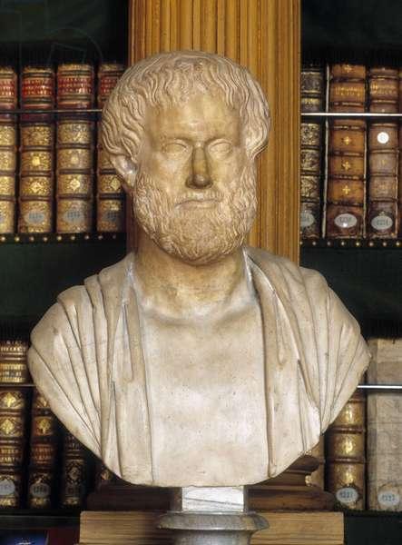Aristotle - bust, Mazarine library