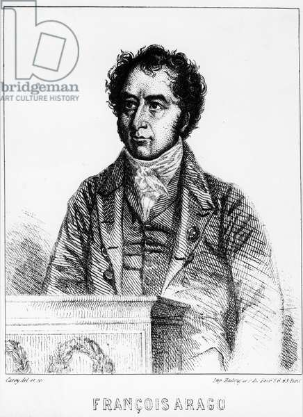 Portrait by Francois Arago (1786-1853), French astronomer, physicist and politician - engraving of 1856