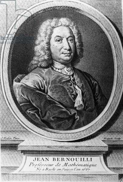 Portrait of Jean Bernoulli (Johann Bernouilli) (1667-1748), Swiss mathematician and scholar