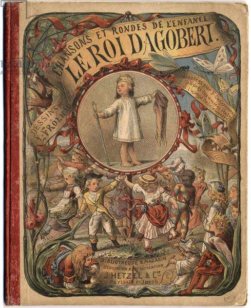"""Cover of the Book """"The King Dagobert""""""""."""