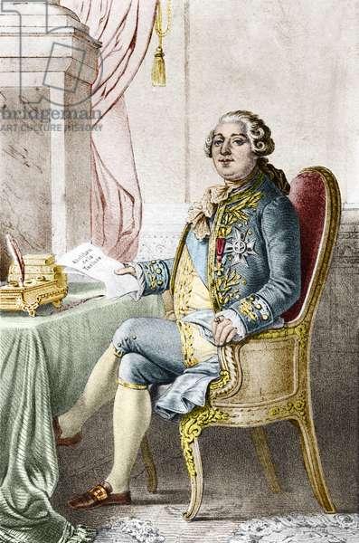 Portrait of Louis XVI (1754-1793), King of France.