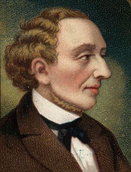 Portrait of Danish writer and poet Hans Christian Andersen (1805-1875).