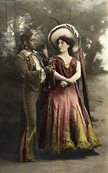 Portrait of Caroline (La Belle) Otero (1868-1965) - Otero et Jacquinet - Postcard sd debut 20th century