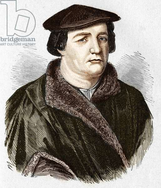 Portrait of Martin Luther, German Protestant theologian and reformer.