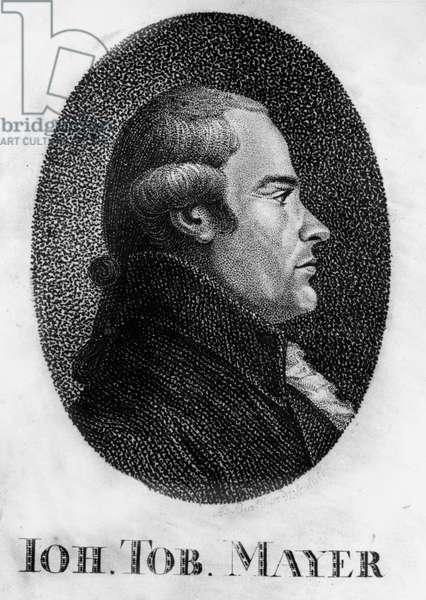 Portrait of Johann Tobias Mayer (1723-1762) German Astronomer and Physicist