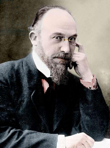 Portrait of Erik Satie (1866-1925), French composer.