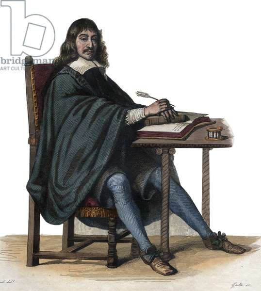 Portrait of Rene Descartes (1596-1650), French philosopher and writer.