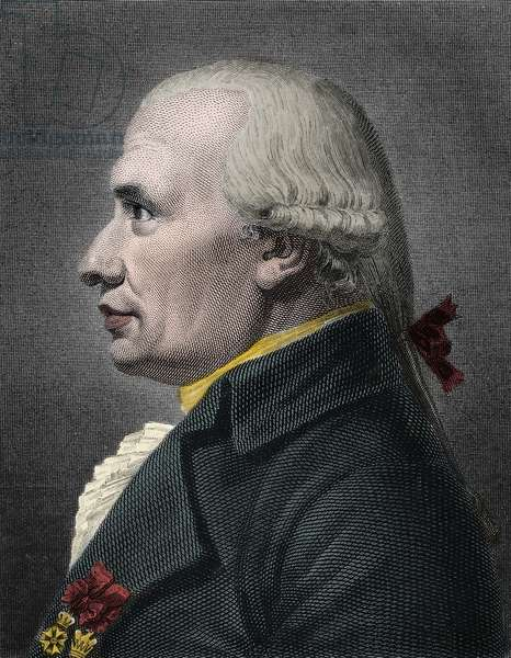 Portrait of Gaspard Monge (1746-1818) Count of Peluse, French mathematician and physicist.
