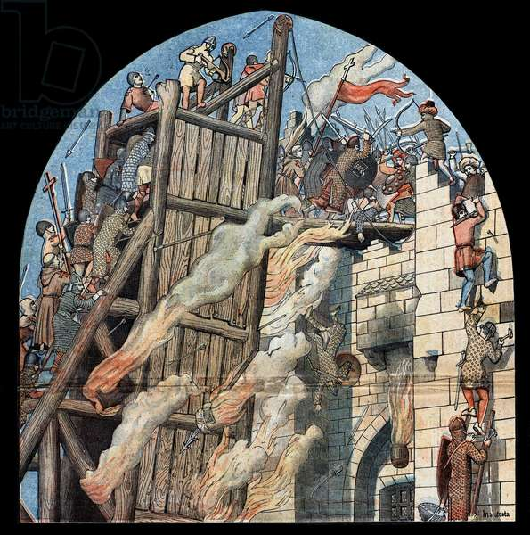 First Crusade: the siege and the capture of Jerusalem by the crossings led by Godefroy de Bouillon (1058-1100) in 1099.