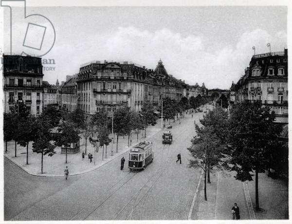 Grand Duche de Luxembourg, avenue de la Liberte. Photography years 1930.