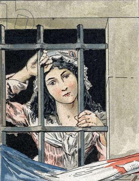 Charlotte Corday (1768-1793) who murdered Jean-Paul (Jean Paul) Marat, in prison.