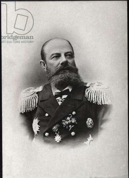 Portrait of Avellan, Russian admiral and commander of the Russian Mediterranean fleet.