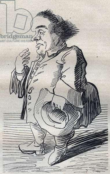 A Deep Thinker - Cartoon by Pier Leone Ghezzi (1674-1755) - 1740