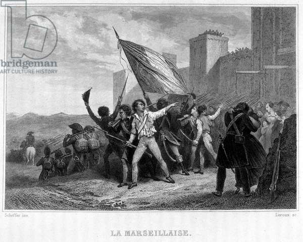 "La Marseillaise (August 10, 1792) - in """" Revolution francaise"""" by Thiers. 19th century"